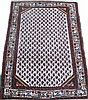 SEMI-ANTIQUE PERSIAN ORIENTAL RUG.  Hamadan.  With an ivory field filled with a