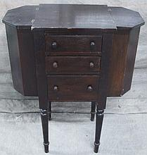 MARTHA WASHINGTON SEWING CABINET.  Three drawers with deep side cabinets and an