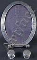 STERLING SILVER OVAL ENGRAVED PICTURE FRAME.  13
