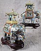 PAIR OF CHINESE CLOISONNE ELEPHANT FORM SENSORS ON STANDS. 9
