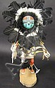 INDIAN KACHINA DOLL. Sunface dancer. By Smith.