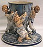 CONTINENTAL GLAZED POTTERY NOVELTY FIGURAL