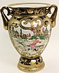 CHINESE EXPORT HUNT SCENE VASE. With European