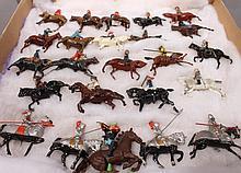 BRITISH RIDER ON HORSES.  24 toys.