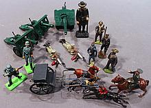 15 ASSORTED TOY FIGURINES.  (including Brtians).