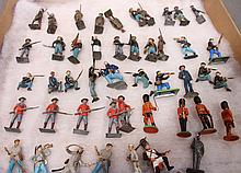SOLDIER'S MIX-BRITS.  Including Britains.  46 toys.