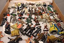 BARCLAY MANDIL DE POSE FRENCH FIGURES.  64 toys.