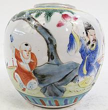 CHINESE 19TH CENTURY PORCELAIN GINGER JAR WITH A