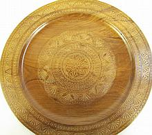EASTERN EUROPEAN CARVED WOOD BREAD TRAY. (Note: