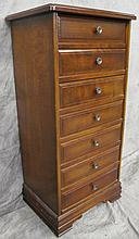 LINGERIE CHEST. Cherry, seven narrow drawers. 21