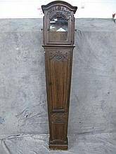 FRENCH PROVINCIAL WALNUT TALL CASE CLOCK. Early