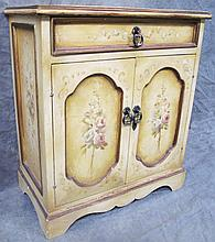COUNTRY WASHSTAND STYLE CABINET. With golden glaze
