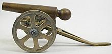 SOLID BRONZE MODEL CIVIL WAR FIELD GUN (CANNON).