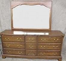CHERRY PROVINCIAL STYLE DOUBLE DRESSER WITH