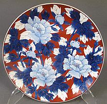 JAPANESE CONTEMPORARY IMARI PORCELAIN CHARGER.  15 1/2