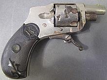 BABY HAMMERLESS .22 CAL. SHORT REVOLVER.  Pat. 1896.  Folding trigger,