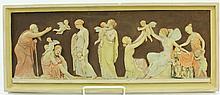 MUSEUM AUTHORIZED ROMAN FRIEZE COPY.  In glazed ceramic.  7 1/2