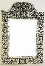 ARMETAL MEXICAN STYLE MIRROR.  (An aluminum based pewter like alloy).  25