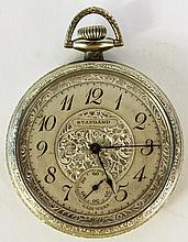 NEW YORK STANDARD WATCH CO. SMALL SIZE OPEN FACE POCKETWATCH.  Seven jewel stem