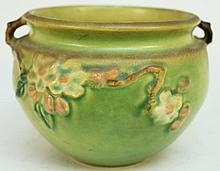 ROSEVILLE POTTERY.  Apple Blossom pattern.  300-4.