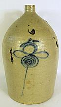 5 GALLON STONEWARE JUG.  With