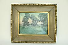 ROOKWOOD SCENIC VELUM FRAMED TILE.  6 1/4