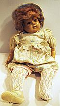 COMPOSITION DOLL.  SY Ideal.  With sleepy eyes.  23