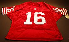 JOE MONTANA AUTOGRAPHED JERSEY.  With certificate of authenticity.