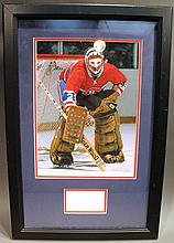KEN DRYDEN AUTOGRAPHED PHOTO.  In frame.  With certificate of authenticity.