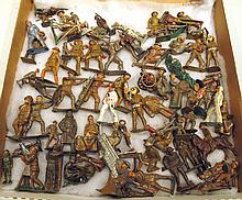 ASSORTED WWI SOLDIERS.  Total of 76 figures.