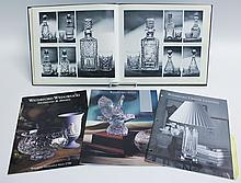 WATERFORD CRYSTAL REFERENCE BOOK AND THREE CATALOGS.