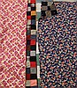 TWO AMISH STYLE BLOCK QUILTS.  Composed of 5