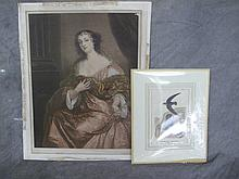 MEZZOTINT WITH IMPRESSED SEAL. Dated 1905 in