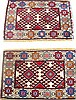 PAIR OF PERSIAN SHIRAZ ORIENTAL RUGS. Approx. 2' x