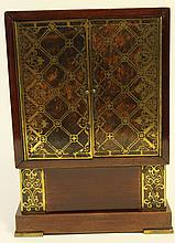 BOULLE WORK (BRASS INLAY INTO HARDWOOD CABINET