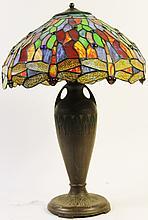 PATINATED HARD WHITE METAL LAMP. Moe-Bridges Co,