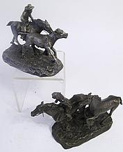 PHILIP KRACZKOWSKI. Two Worcester pewter western