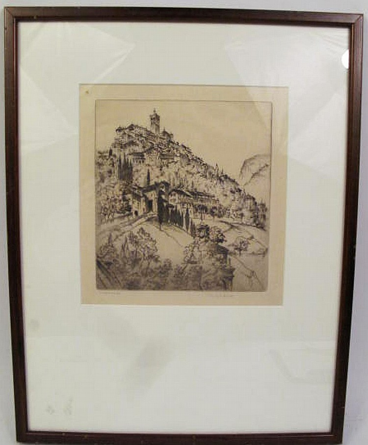 JOHN TAYLOR ARMS. (American, 1887-1953). Etching.