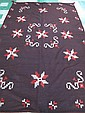 LARGE INDIAN RUG. 20th century. Brown with red,
