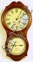 ITHACA OAK DOUBLE DIAL WALL CLOCK.  H.B. Horton's patent.  29