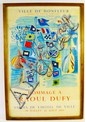 1954 HOMMAGE A RAOUL DUFY COLOR POSTER.  Framed.