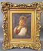 ITALIAN SCHOOL. Oil. Portrait of a woman. 19th