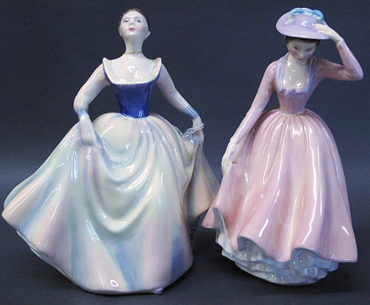 ROYAL DOULTON FIGURINES. Sweet April, HN #2215 and