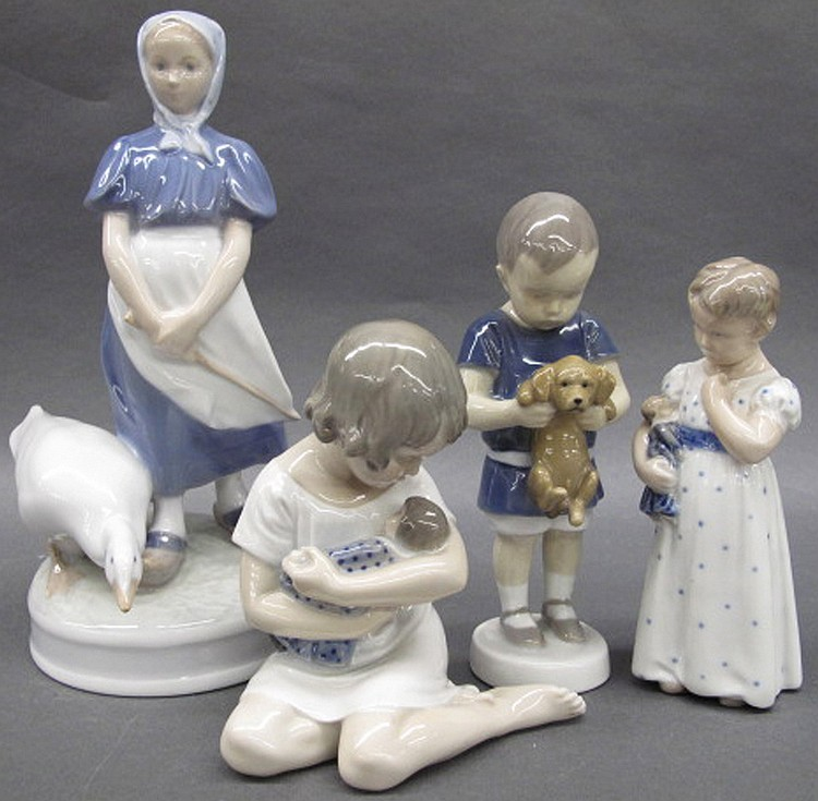 ROYAL COPENHAGEN CHILDREN PORCELAIN FIGURINES.