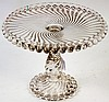 VICTORIAN PRESSED PATTERN GLASS PEDESTAL CAKE