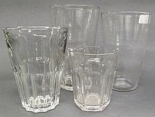 FIVE 19TH CENTURY FLIP GLASSES. Including two