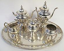 GORHAM STERLING SILVER SIX PIECE COFFEE AND TEA