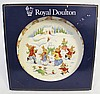 ROYAL DOULTON PLATE. Bunnykins build a snowman. PN