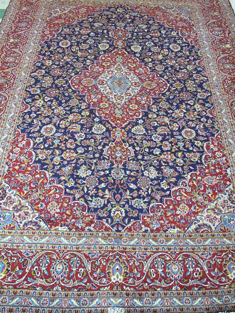 PERSIAN KASHAN RUG.  Approx. 13' x 9'.