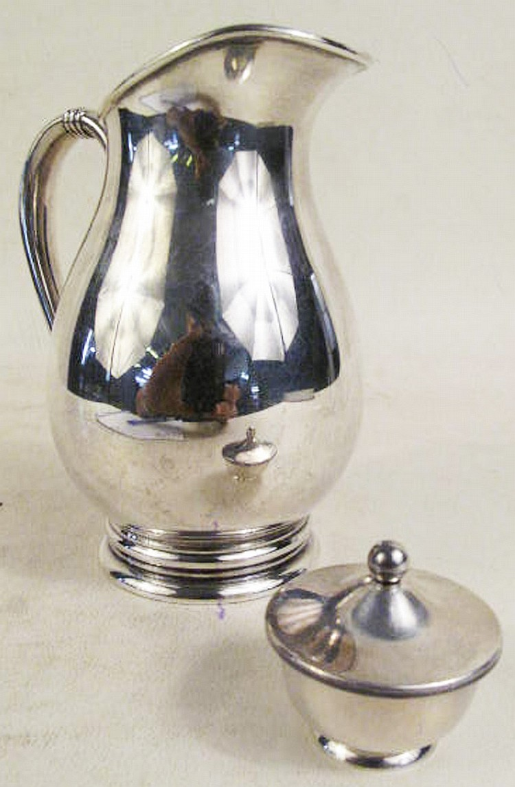 ROYAL DANISH STERLING SILVER CREAMER. Together